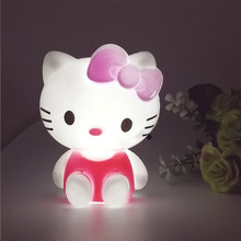 Hello Kitty LED Night Light AC220V 110V Cartoon Night Lamp With US Plug Gifts For Kid/Baby/Children Bedroom Bedside Lamp
