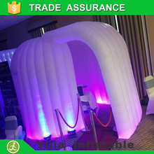 portable high quality White photobooth enclosure led inflatable dome tent
