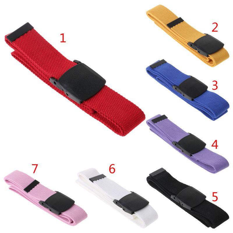Caliente nuevo 1 unid Unisex Casual cinturón Universal Nylon lona hebilla de plástico ajustable mujeres de los hombres al aire libre cintura