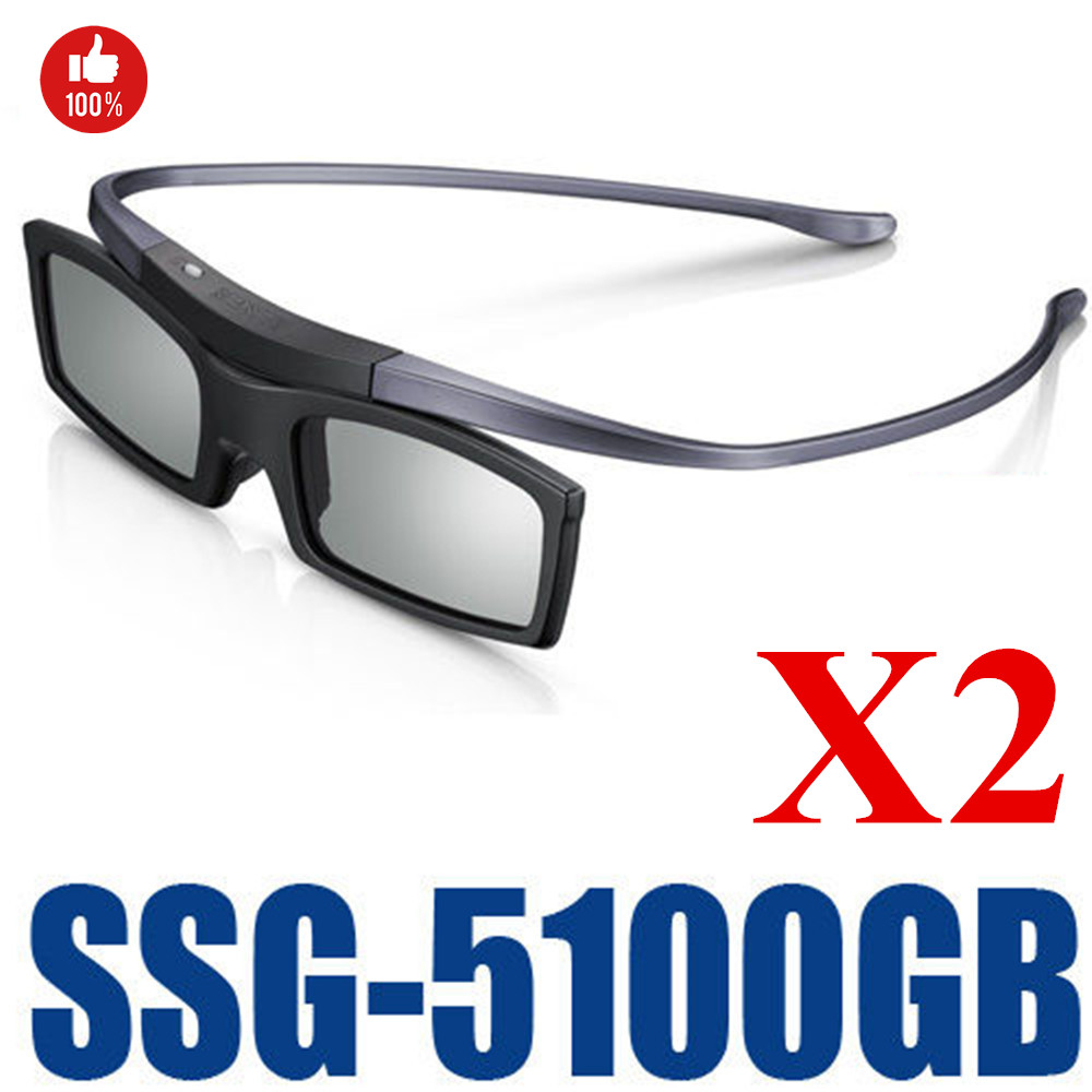 2PCS X Official Original Bluetooth 3D Shutter Active Glasses for SSG-5100GB 3DTVs Universal TV cardboard Free Shipping(China)