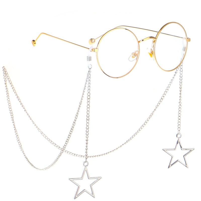 Eyeglass Chains Penadant Rope Cord-Holder Eyewears Neck-Strap New-Fashion Women Hollow-Star