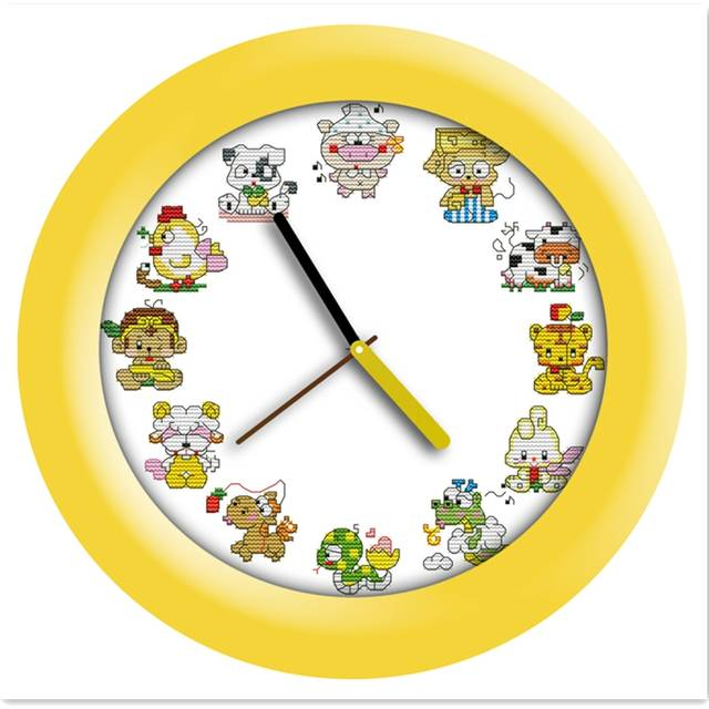 2ead95e0b placeholder The 12 Chinese Zodiac (clock face) Chinese Counted Cross Stitch  Pattern DMC Cross Stitch