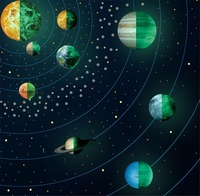 Fluorescent Solar system Moon glow Nine Planet Sets Wall Stickers Noctilucent Living Room TV/Sofa Backdrop Mural Decal A2136c