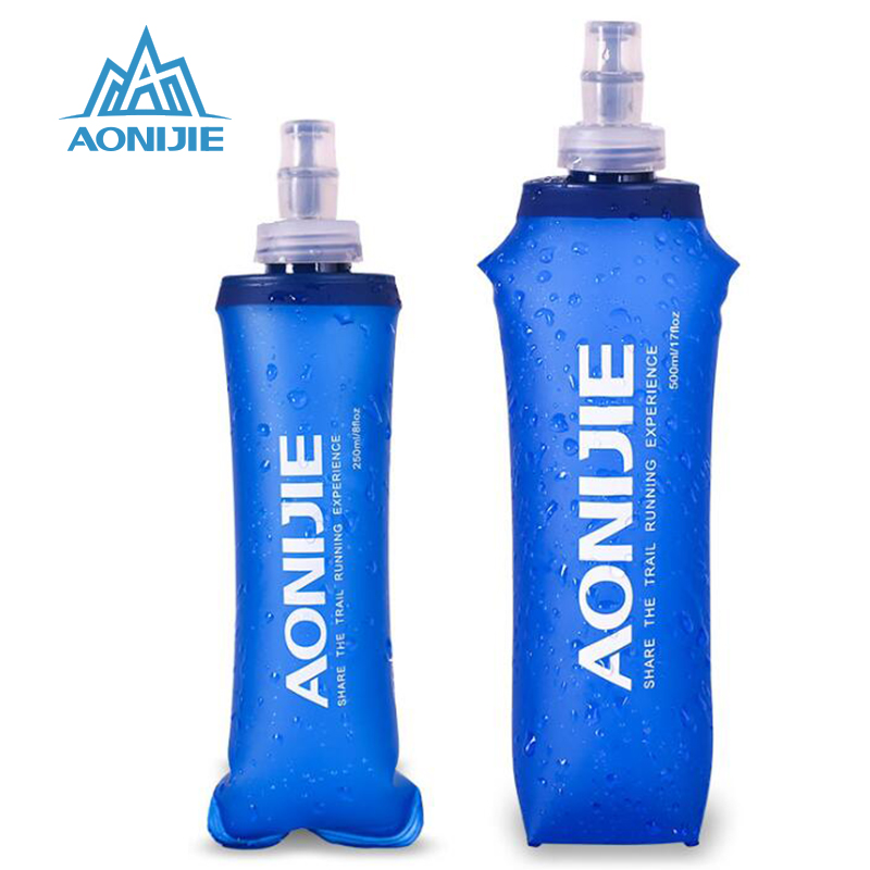 AONIJIE 2019 TPU Water Bag Foldable Soft Flask Outdoor Sport Camping Climbing Drink Water Bags Bladder Bottles 170ml/250ml/500mL