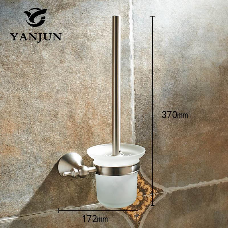 YANJUN Stainless STeel Toilet Brush Holder Bathroom Accessories WC Brush With A Long Handle For Home  YJ-7462 antique copper toilet brush holder ceramic solid brass bathroom toilet brush cup holder rack bathroom brush shelf