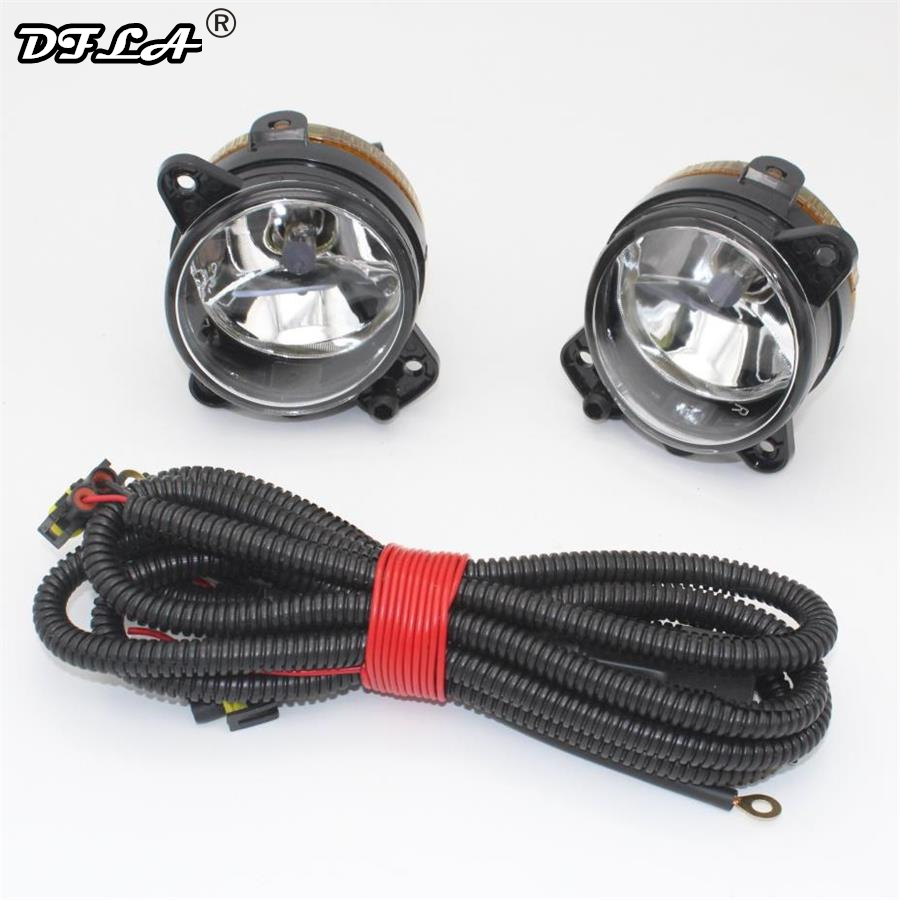 1 Set Car Light For Skoda Fabia 2 Mk2 2006 2007 2008 2009 2010 Car-Styling Front Halogen Fog Lamp Fog Light With Bulbs car fog lights lamp for mitsubishi triton 2 door 2009 on clear lens pair set wiring kit fog light set free shipping