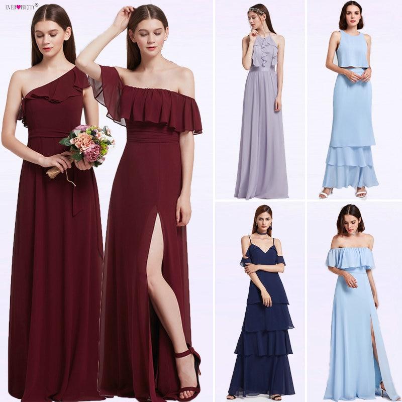 Bridesmaid     Dresses   Ever Pretty 07211 Sexy One Shoulder A-line Ruffles Floor-Length Belt Gowns Beach Wedding Guest   Dress