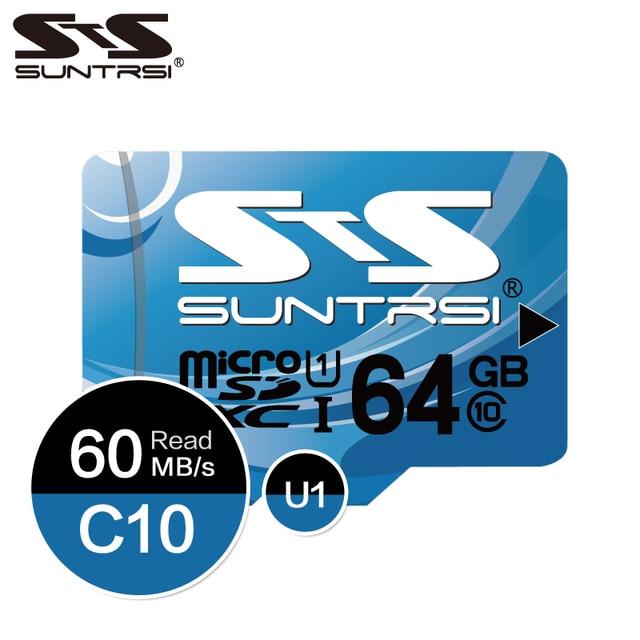 Cartão De Memória de 128 gb 64 Suntrsi gb 16 gb gb Class10 8 32 gb cartão micro sd cartão de Memória flash Microsd para smart phone/Tablet Free Ship