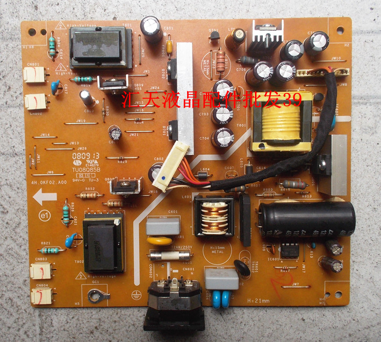 Free Shipping>Original  Phlc024  220CW Power Board 4H.0KF02.A00 pressure plate-Original 100% Tested Working free shipping en vis ion yimeixun g2220w original power board pressure plate 715g2892 5 4 6 4 original 100% tested working