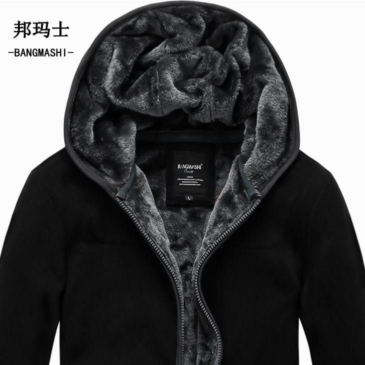 2019 Autumn Winter Coats And Jackets Hoodies Lelaki Plus Size Cardigan Lelaki Kapas Jaket 5XL 6XL Penghantaran Percuma A018