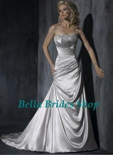 2011 Beautiful Latest Designed Strapless Korean Wedding Dress