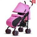 Bebé cochecito de bebé cochecito coche BB coche paraguas portátiles ligeros pueden sentarse plegado plano