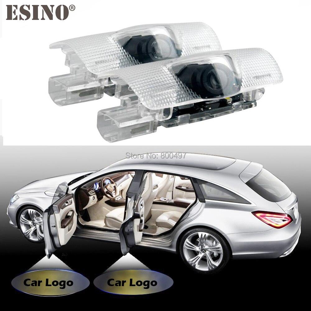 2 х автомобилей светодиодные логотип свет двери Добро пожаловать лазерный проектор света Добро пожаловать свет для Ниссан Патрол Теана