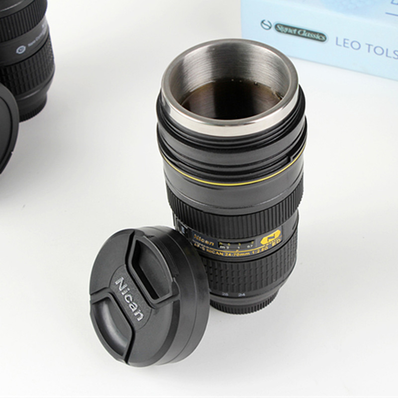 Camera Lens Mug ML Tea Stainless Steel Insulated Tumbler - Nikon coffee cup lens