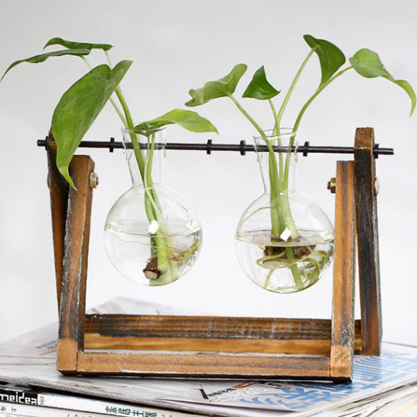 New Creative vase plant glass hydroponic container farm decorative flowerpot home decorations 4