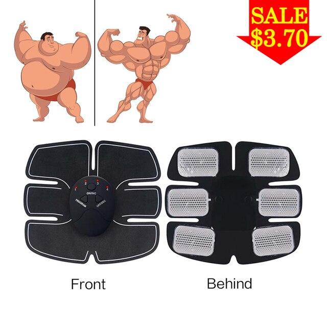 EMS muscular Trainer abs Sem Fio Estimulador Muscular Mioestimulador Corpo Cinto de Fitness Perda de Peso Slimming Massageador Corporal Elétrico