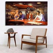Marilyn Monroe Elvis Presley James Dean Humphrey Bogart Canvas Posters Prints Wall Art Painting Decorative Picture Home Decor HD