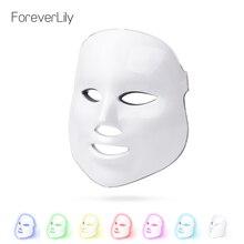 Foreverlily светодио дный терапия маска свет маска для лица фотон светодио дный маска для лица корейский уход за кожей светодио дный маска терапия