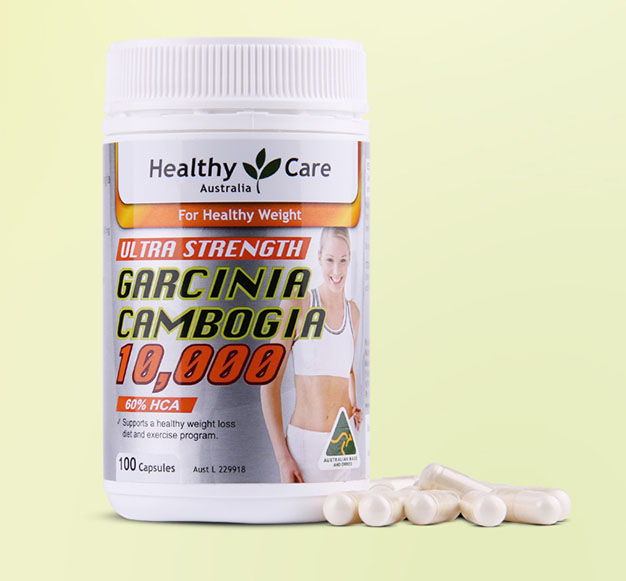 Healthy Care Garcinia Cambogia 10,000 mg supports a healthy weight loss 100 capsules