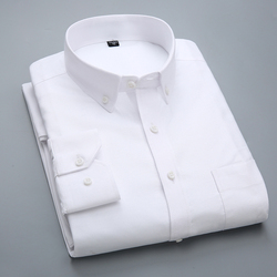 High quality 2017 New shirt men Long Sleeve 100% Cotton Casual White Slim Fit camisa business Classic Mens Dress Formal Shirts