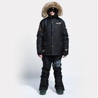 DHL Бесплатная доставка 2018 Новый Для мужчин лыжные костюмы, Водонепроницаемый, ветрозащитный, сноуборд куртки, превосходное качество Для муж