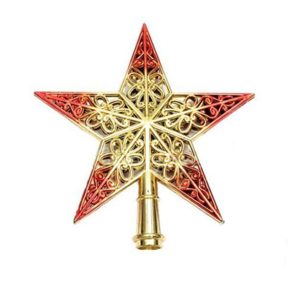 1pcs lovely shiny xmas decorative christmas star tree topper decor table top ornament home decoration