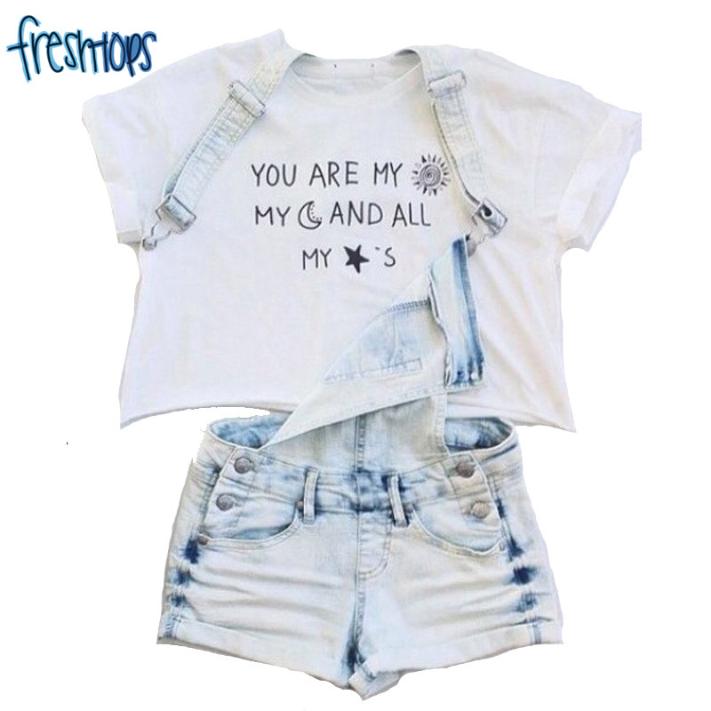 F1000 Youre My Sunshine Women Tops Brand Fashion Moon Stars Crop Shirts Tops ...