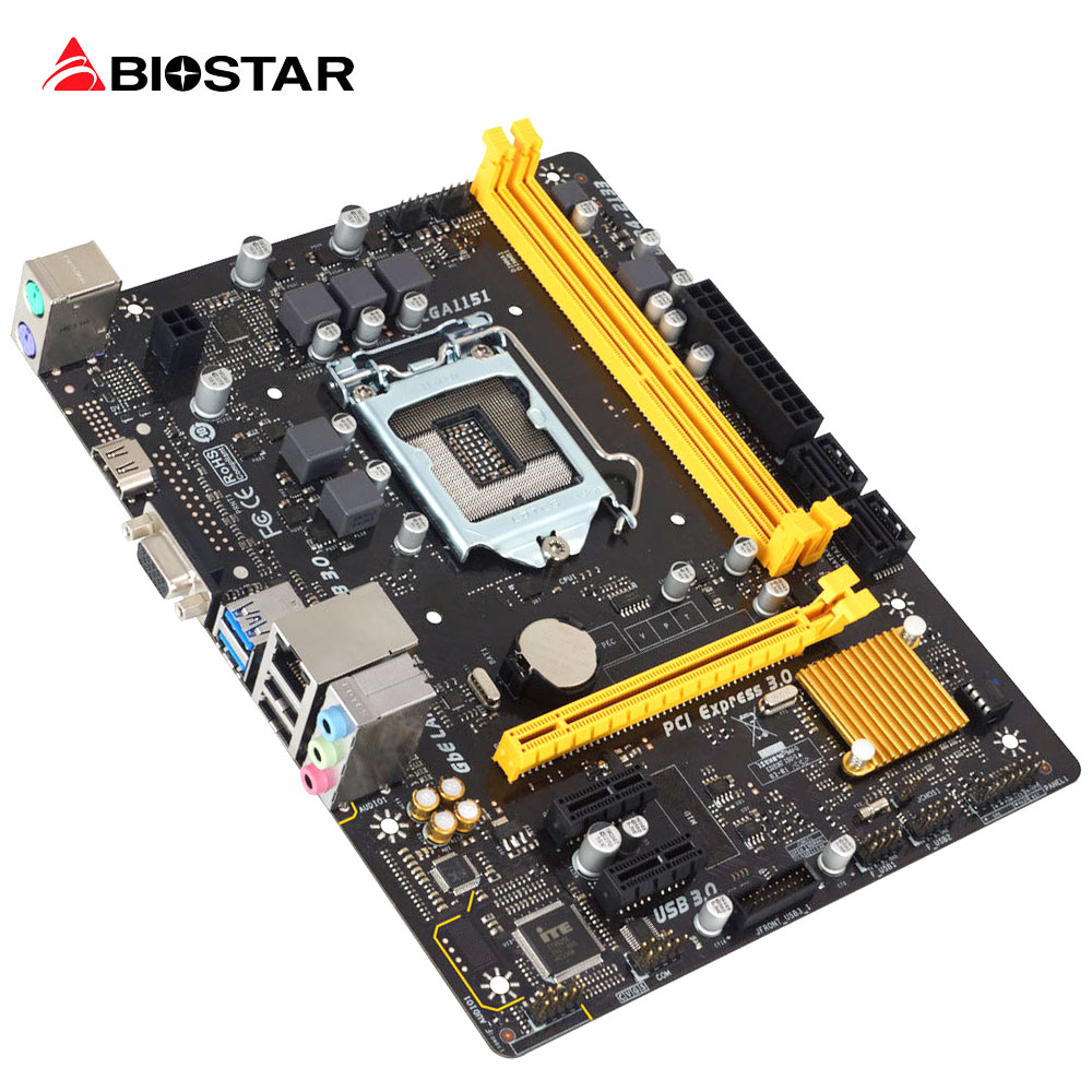 BIOSTAR New Motherboard H110MH PRO D4 For Intel LGA I3I5 I7 7700 6600 6700 7500 k CPU Micro-ATX 1151 DDR4 32G Computer Mainboard intel g31 micro atx lga 775 ddr2 computer motherboard blue silver