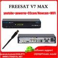 FREESAT V7 Max CCAM + 1 pc wifi ou sem wifi Receptor de Satélite receptor Decodificador DVB-S2 Suporte YouTube Xvideos Newca Powervu