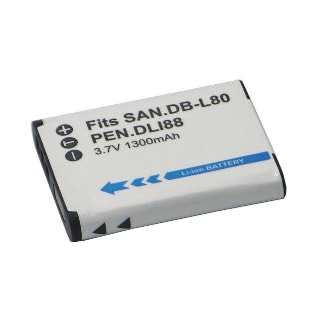 D LI88 DB L80 L80A D LI88 DBL80 DLi88 Rechargeable Batteries For Sanyo VPC CG10 VPC CG20 For PENTAX VPC CG88 CG100 P70 Battery
