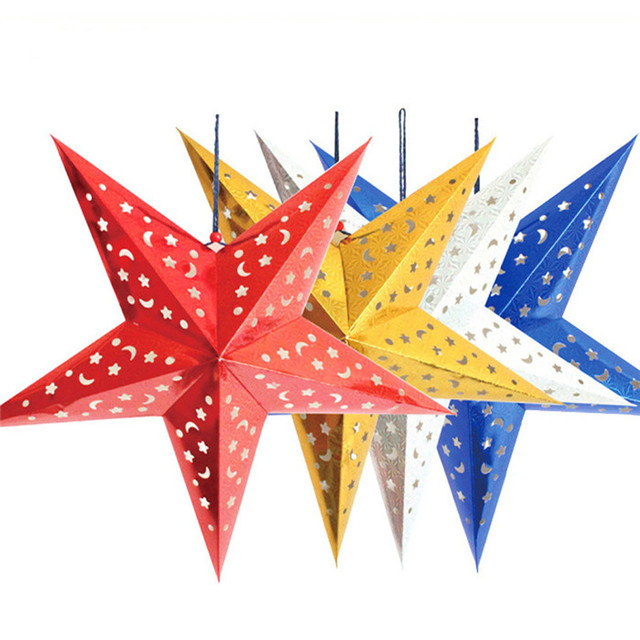 party wedding christmas decoration christmas star string hanging party tree decoration ornament 2jy24 - Christmas Star Decorations