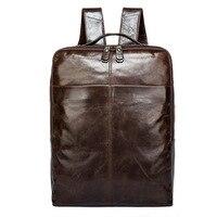 9081 оптовая продажа кожаная сумка для мужчин мужской слой коровьей рюкзак мужской компьютер человек кожаный рюкзак