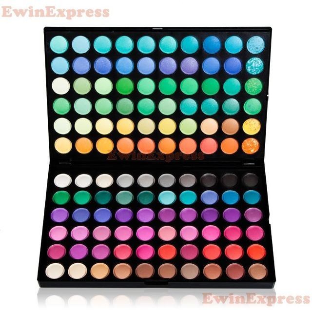 1 X New Pro 120 Color Eye Shadow Palettes Makeup Beauty For Cosmetic Brush Set Kit Women Ladies Eye Shadow