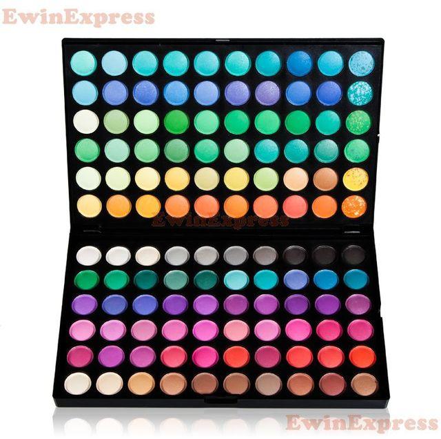1 X Nueva Pro 120 Color de Sombra de Ojos Paletas de Maquillaje de Belleza Para Señoras de Las Mujeres de Sombra de Ojos Cepillo Cosmética Set Kit