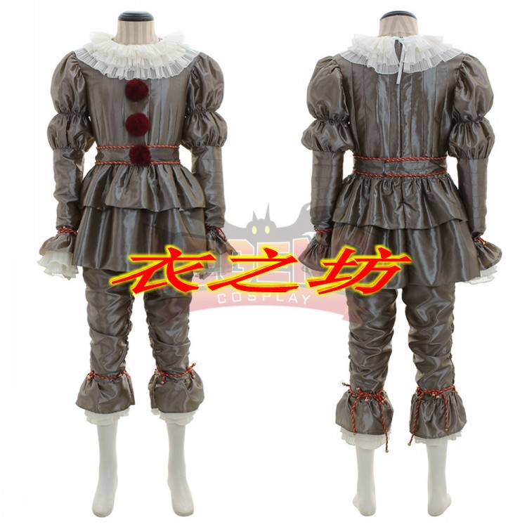 2018 new clown back soul COS Penney Wise Cosplay Halloween costume clown Pennywise