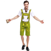 German Beer Mens Costume Lederhosen Oktoberfest Costumes Bavarian German Beer Festival Outfit Cospaly Clothing Plus Size JT
