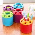 Creative Multi-function Toothbrush Holder Porous Loves Toothbrush Cylinder Desktop Pen Container Pencil Vase Storage Tube