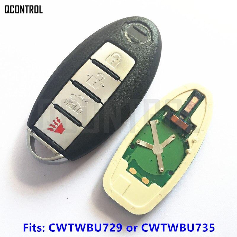 QCONTROL Smart Remote Car Key for Nissan Tiida Qashqai Teana Xtrail Cube Juke Xterra 315MHz CWTWBU729 or CWTWBU735