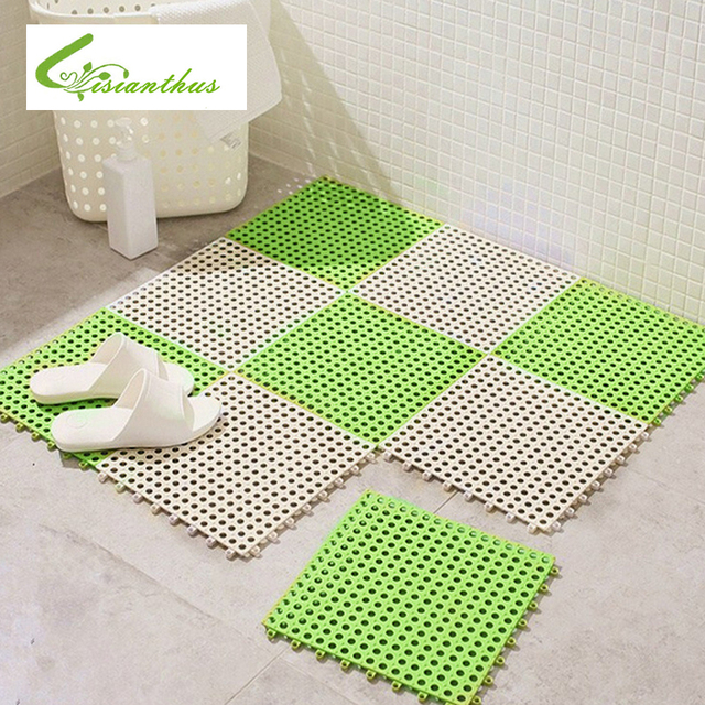 2018 New Pvc Bathroom Carpet Splice Non Slip Kitchen Rugs Solid Shower