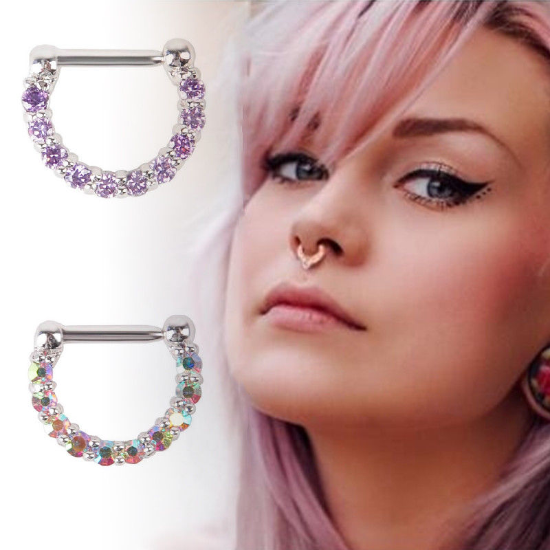 1pc 316L Surgical Steel Open Nose Hoop Ring Piercing Stud Body Jewellery