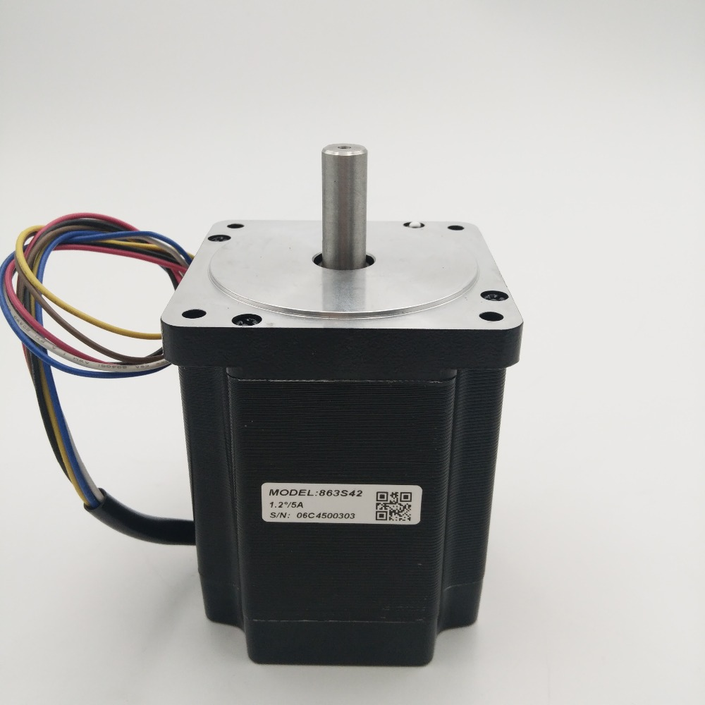 ФОТО NEMA34 4.2NM 600oz-in 3-phase 5A D=12mm Leadshine Stepper Motor 863S42 for Laser Machine