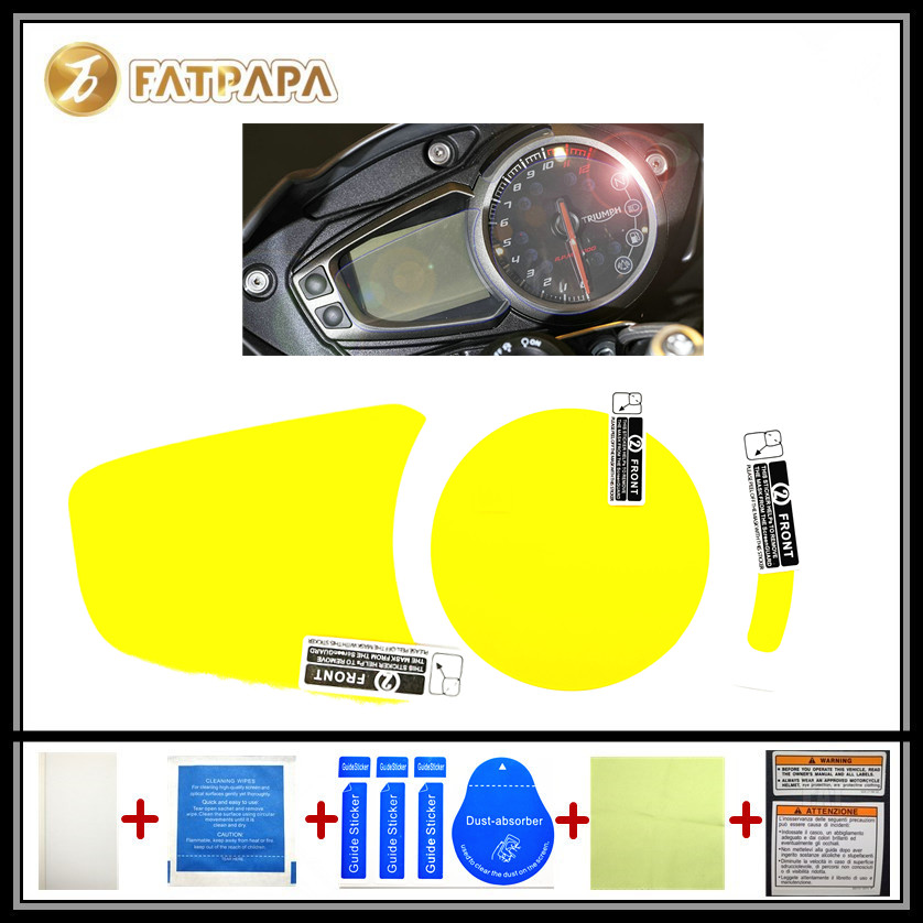 motorcycle Meter Km Table Display screen Blu-Ray Protective film Suitable FOR Triumph Speed Triple 675