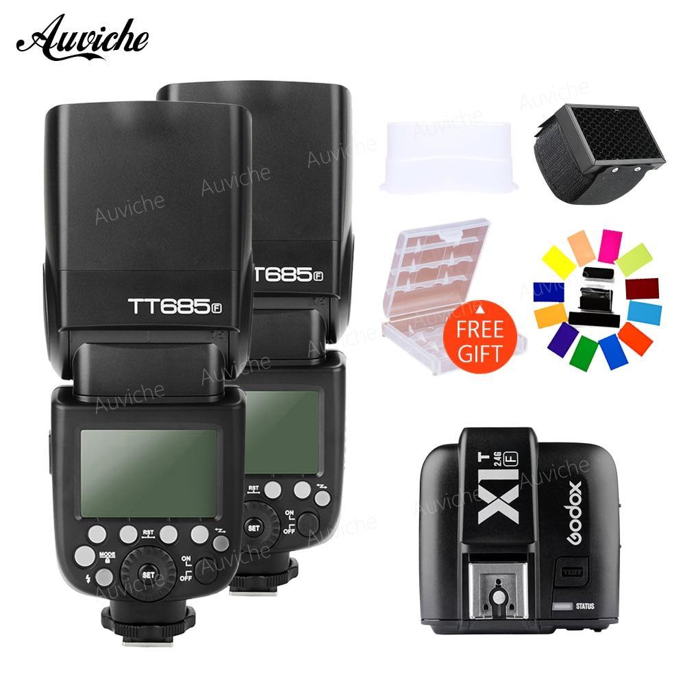 Godox TT685F HSS TTL Wireless Flash Speedlite GN60 with X1T-S Transmitter trigger for Fujifilm Fuji X-Pro2/X-T20/X-T10/X-T1/X-T2