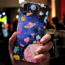 Space Star Case FOR Coque Motorola Moto E4 G5S G5 G6 Plus EU Play 3D Relief Silicone FOR Huawei P20 Mate 20 Pro Lite Soft Case