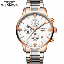 Фотография GUANQIN Watch Men Top Brand Luxury Chronograph Luminous Hands Clock Men