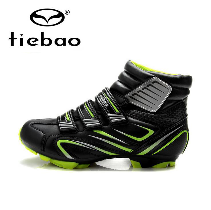 Tiebao Professional Winter Bicycle Cycling Shoes Men MTB Bike Racing Shoes Windproof Warm Athletic Self-Locking Ankle Boots tiebao bike self locking magic tape bicycle shoes keep warm cycling sport professional cycling shoes mountain biking shoes