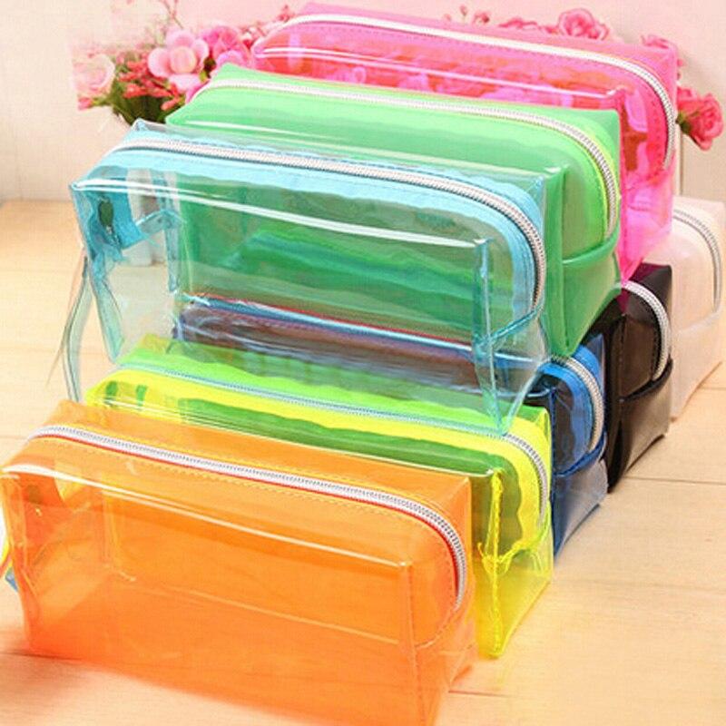 Портативный канцелярские карандашом мешок Пластик школы Office для дома организации сумка Новая мода Детская подарки приз сумка
