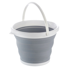 1 Piece Foldable Collapsible 10L Plastic Bucket Outdoor Travel