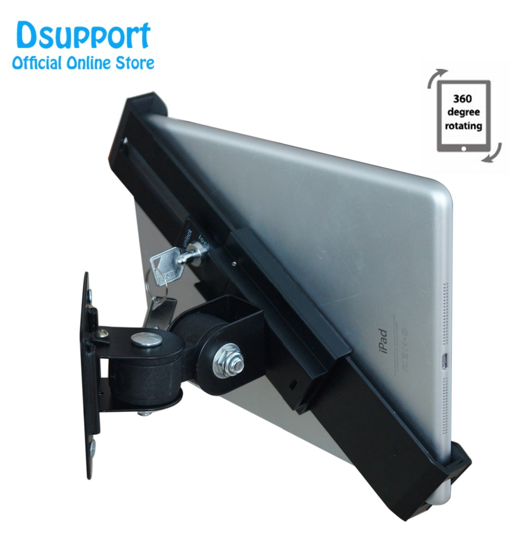 Universal wall mounting for tablet pc display stand holder brace 8 to 10 inch holder for ipad samsung plurality of angles stand universal tablet holder for 8 10 inch tablet pc stand security holder for ipad 2 3 4 air samsung desktop display support