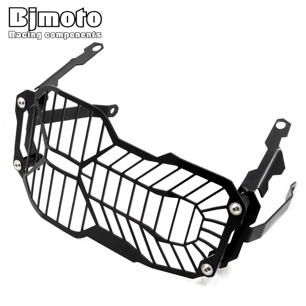 BJMOTO Stainless Steel Motorcycle Headlight Grille Guard Cover Protector For BMW R1200GS 2013-2016 R1200GS 2014-2016 bjmoto motorcycle steel para lever guard for bmw r1200gs lc 2013 2015 r1200 adv 2015 2016